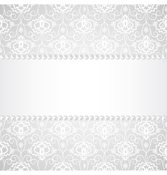 Lace background with pearls and ribbon vector