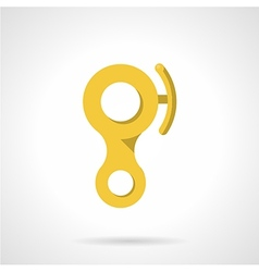 Yellow descender device flat icon vector