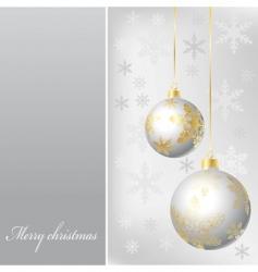 Silver balls vector