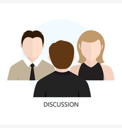 Discussion icon flat design concept vector