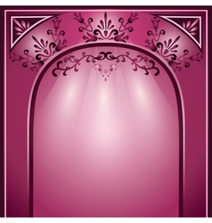 Background with arch and decorative ornament vector
