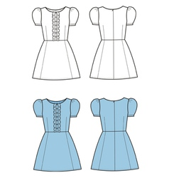 Romantic dress vector