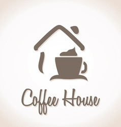 Coffee house icon vector
