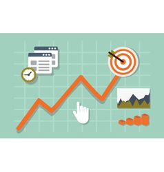 Flat of web analytics information and development vector
