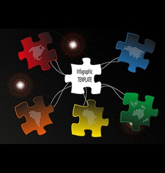Puzzle map vector
