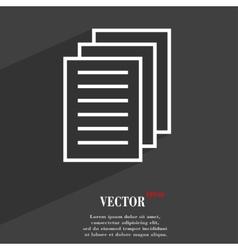 Copy file icon symbol flat modern web design with vector
