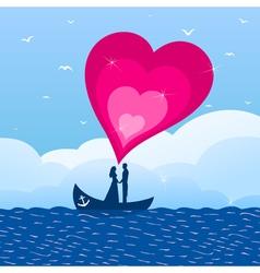 Love boat vector