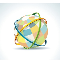 Abstract globe symbol internet and social network vector