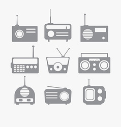Radio isolated objects set vector