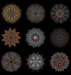 Nine options mandalas vector