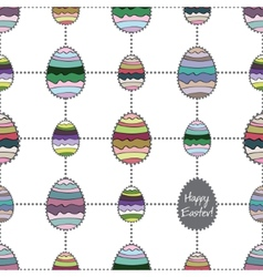 Happy easter cute holiday background seamless vector