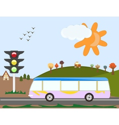 Holiday bus vector
