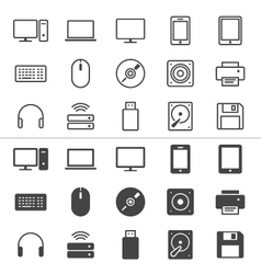 Computer icons thin vector