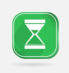 Color icon with shadow hourglass waiting vector