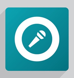 Flat microphone icon vector