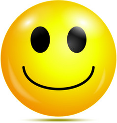Happy smiley emoticon vector