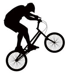 Biker silhouette vector