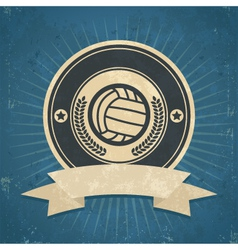Retro volleyball emblem vector