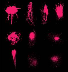 Grunge splatters vector