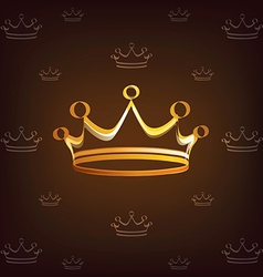 Crown stylized symbol vector