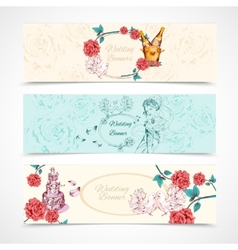 Wedding banners set vector