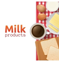 Milk and dairy products concept vector
