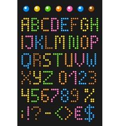Colorful beaded english alphabet vector