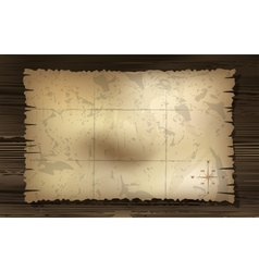 Aged treasure map with compass background vector