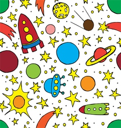 Seamless pattern with childrens space vector