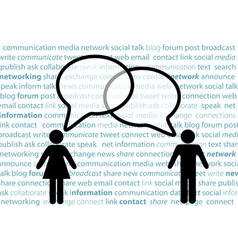 People symbol share social network talk bubbles vector