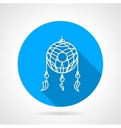 Flat icon for dream catcher vector