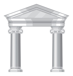 Ionic realistic antique greek temple with columns vector