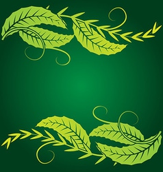 Foliage corner graphics vector