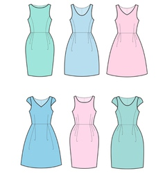 Romantic dresses vector