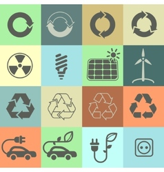 Ecology icons set 02 vector