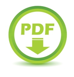 Green pdf icon vector