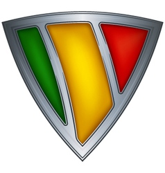 Steel shield with flag mali vector