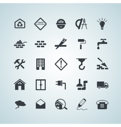 Flat building icons vector
