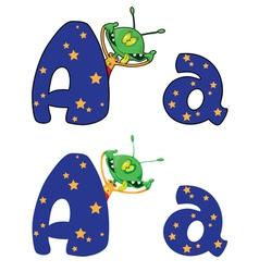 Letter a alien vector