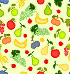 Seamless texture various fruits healthy nutrition vector