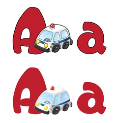 Letter a ambulance vector