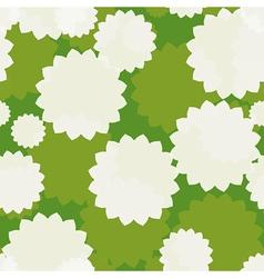 White flowers seamless vector