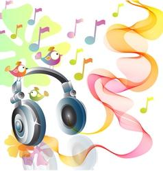 Headphones abstract vector