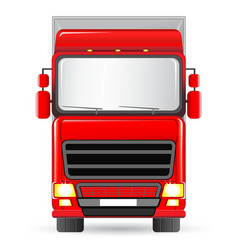 Isolated red truck vector