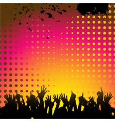 Abstract background and crowd vector