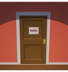 Private room - red vector
