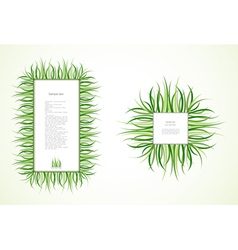 Grass frames vector