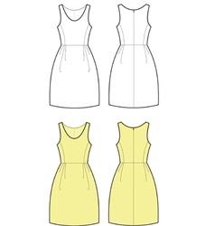 Romantic dress vector