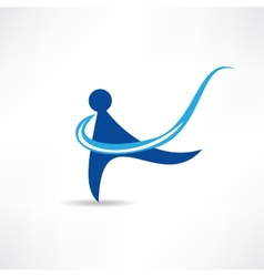 Rhythmic gymnastics icon vector