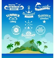 Summer element label vector